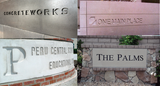 Single-use foam concrete casting letters QUOTE REQUEST ONLY