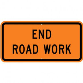 End Road Work 36x18""