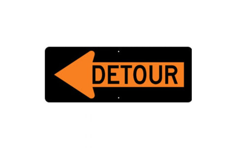 Detour Left Arrow