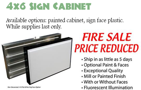 "Closeout 72x48"" Lighted Sign Cabinet for Outdoor"
