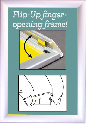 "SLIM Bus Ad 1.25"" Snap-Open Frames MOST POPULAR"