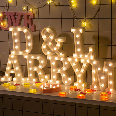 Wedding Decoration Birthday Party  lamp plastic led confession creative