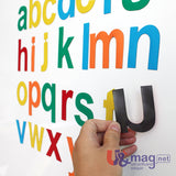 Upper- and Lowercase Magnetic Letters set