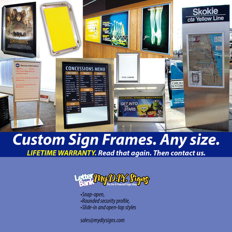 "Print Ad 1.25"" Snap-Open Frame; ONE FRAME"