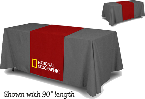 Table runners printed in full color
