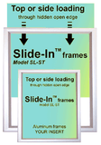 Wall Ad & Poster Slide-in Frames. Not for Buses.