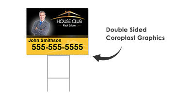 PROMOTIONAL Yard Sign and H wire stake