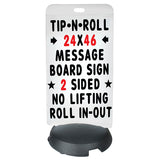 Deluxe Message Board Sidewalk Sign 24 x 46""