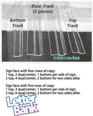 Track Sets (8 foot length) for Rigid Sign Letters