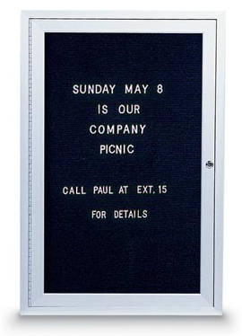 Standard Indoor Enclosed Letterboard, Single Door