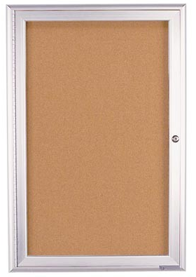 Single Door Radius Frame- Outdoor Enclosed Corkboard