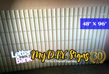Replacement Fiberglass v3 Sign Faces for Roadside Signs with RIGID LETTER TRACK 48x96""