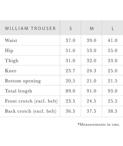 WILLIAM TROUSER