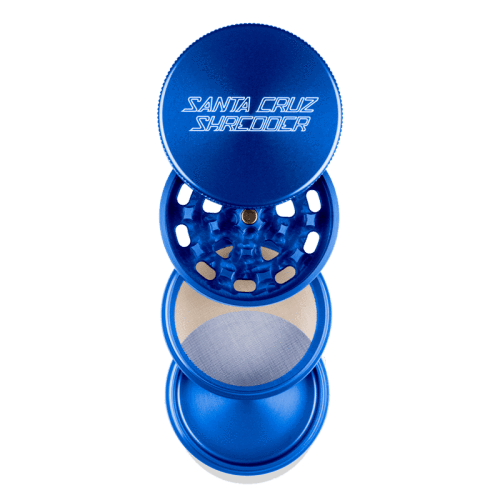 Santa Cruz Shredder 4 Piece Grinder Blue Open
