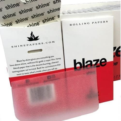Blaze by Shine Hemp Rolling Papers - King Size 32-Sheet Pack
