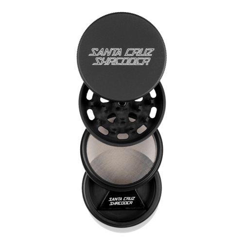 Santa Cruz Shredder 4 Piece Grinder Black Open