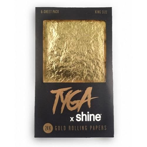 Shine Tyga 24k Gold Rolling Papers - King Size 6-Sheet Pack