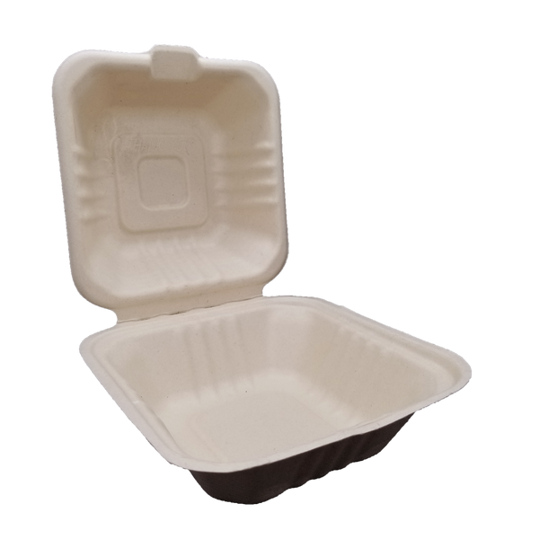 450mL Sugarcane Bagasse Clamshell Food Container