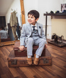 CARIDI Blue  BOYS THREE PIECE SUIT