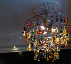 Mini bottle chandelier, Mini Bottle Museum, Oslo, Norway