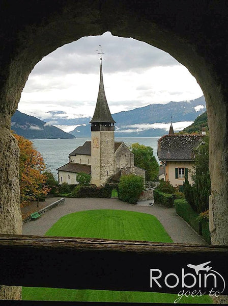 Spiez, Switzerland toward the Alps