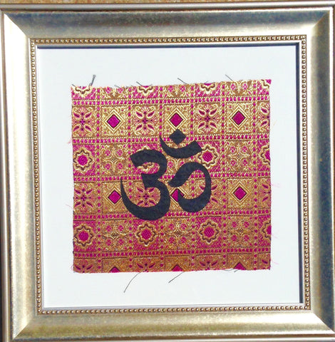 Indonesia- Bali Collection- Framed Wall Print- Om (Purple Reverse)