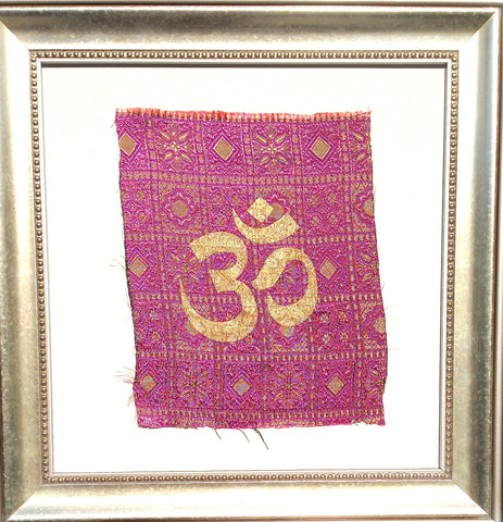 Indonesia- Bali Collection- Framed Wall Print- Om (Purple)