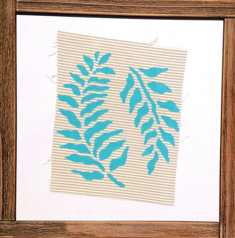Handmade art, Cathedral Cove Striped Collection- Kelp Leaves