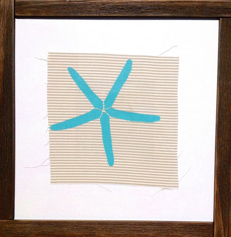 Handmade art, Cathedral Cove Striped Collection- Starfish