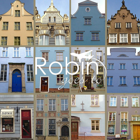 Poland- Gdansk- Houses (Blue)