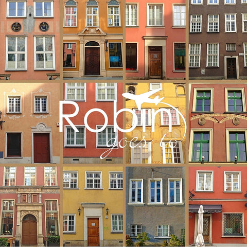 Poland- Gdansk- Houses (Orange)