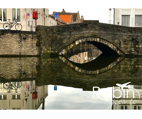 Belgium- Bruges- Bridge Reflection