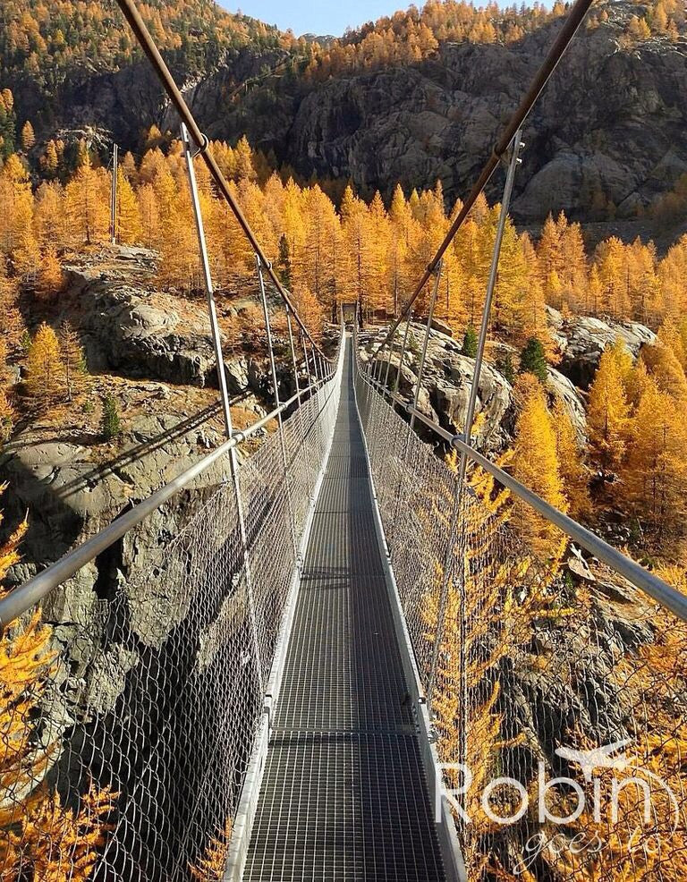 Zermatt Valley suspension bridge, Switzerland