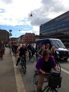 Afternoon traffic in the bike lane, Copenhagen, Denmark