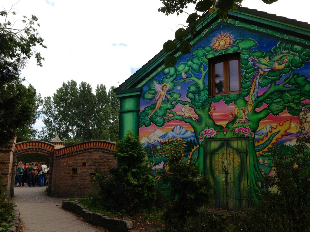 Mural at Christiania entrance, Copenhagen, Denmark