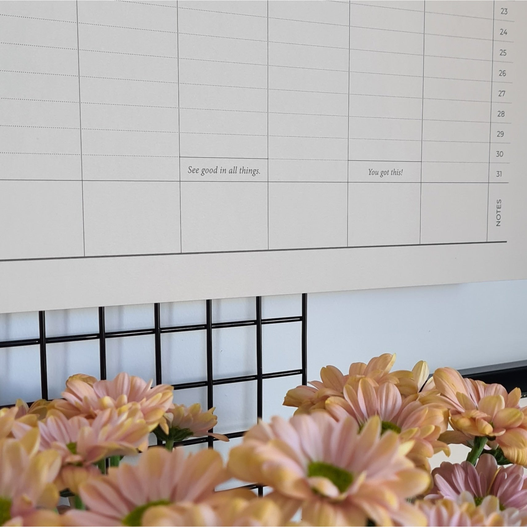 A2 Wall Planner Annual Undated
