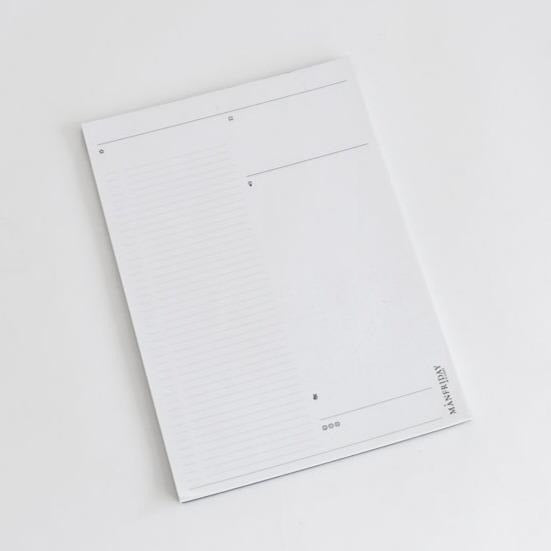 A4 Signature Daily / Project Planner Notepad