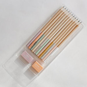 Girlfriday Pastel Pencil Pack x 12 - Grey Lead