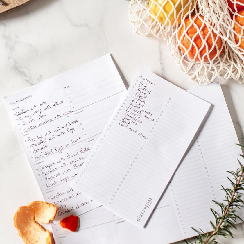 A4 Signature Weekly Meal Planner / Shopping List Notepad