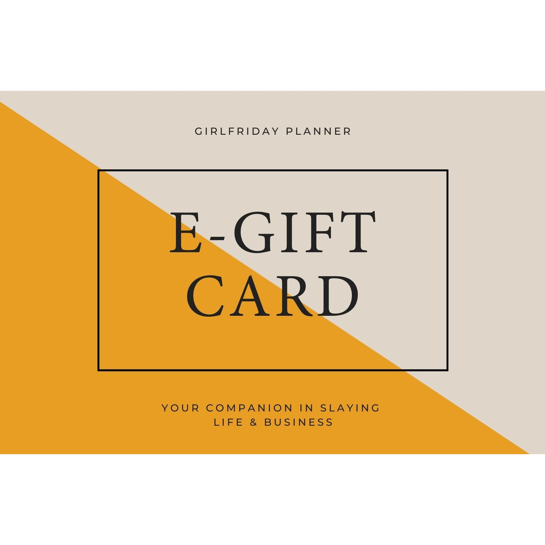 GirlFriday Planner Gift Card