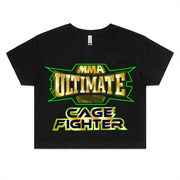 CAGE FIGHTER - Womens Crop Tee