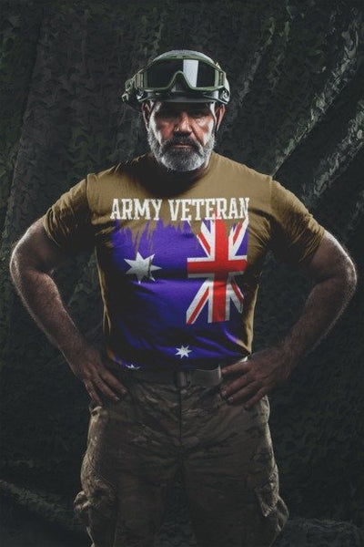 Australian Army Veteran - Mens T-Shirt