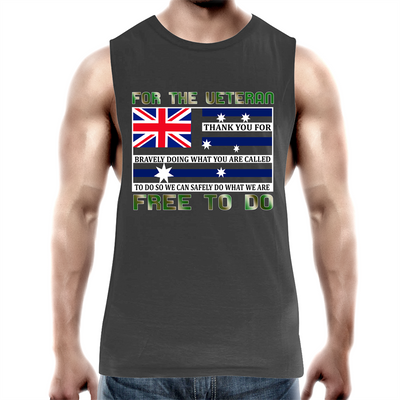 Military Veteran - Mens Tank Top Tee