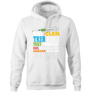 Tren and Clen Funny Bodybuilding Quote  - Pocket Hoodie Sweatshirt