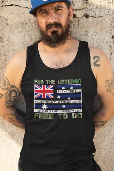 Australian Defence Force Veteran - Mens Tank Top Tee
