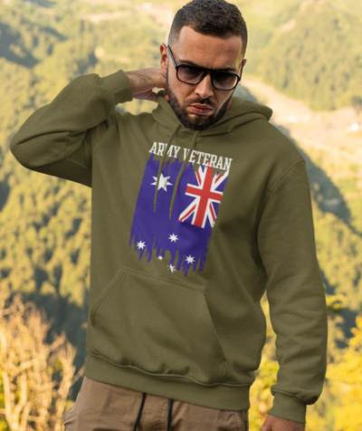 Australian Army Veteran - Pocket Hoodie Sweatshirt
