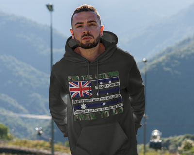 Military Veteran - Pocket Hoodie Sweatshirt