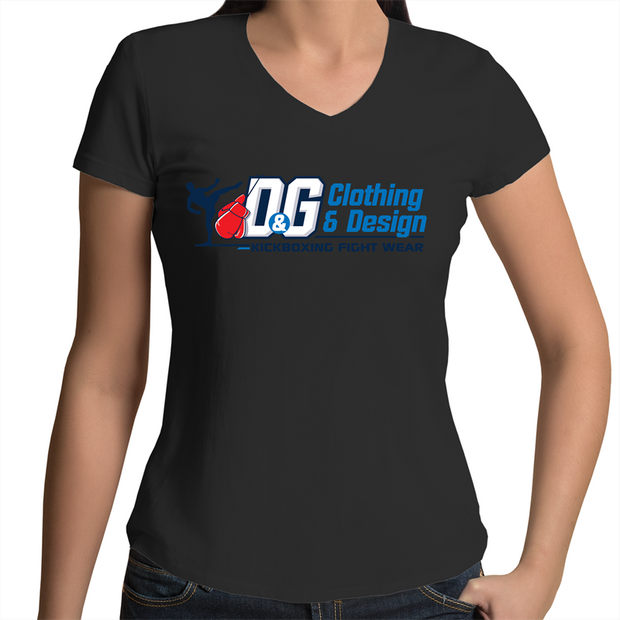 D & G Fight Wear  - Womens V-Neck T-Shirt