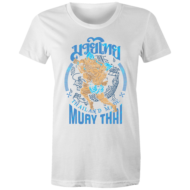 Muay Thai Thailand Made - Womens Crew T-Shirt