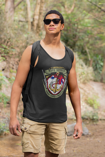 Royal Australian Navy Veteran - Mens Tank Top Tee